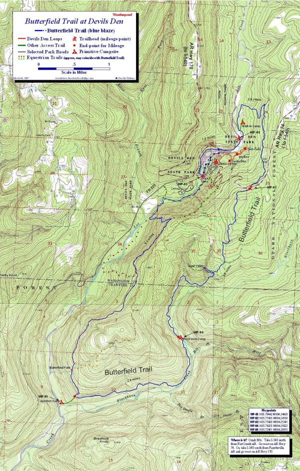 Devils Den Arkansas Map.Butterfield Trail At Devils Den Ozark Mts Arkansas