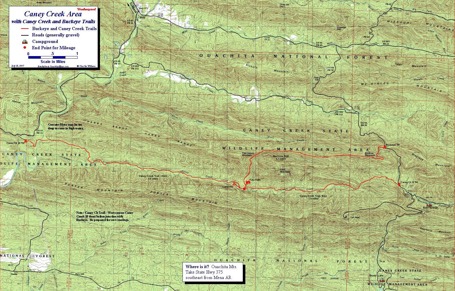 Caney Creek Area, Ouachita Mts, Arkansas