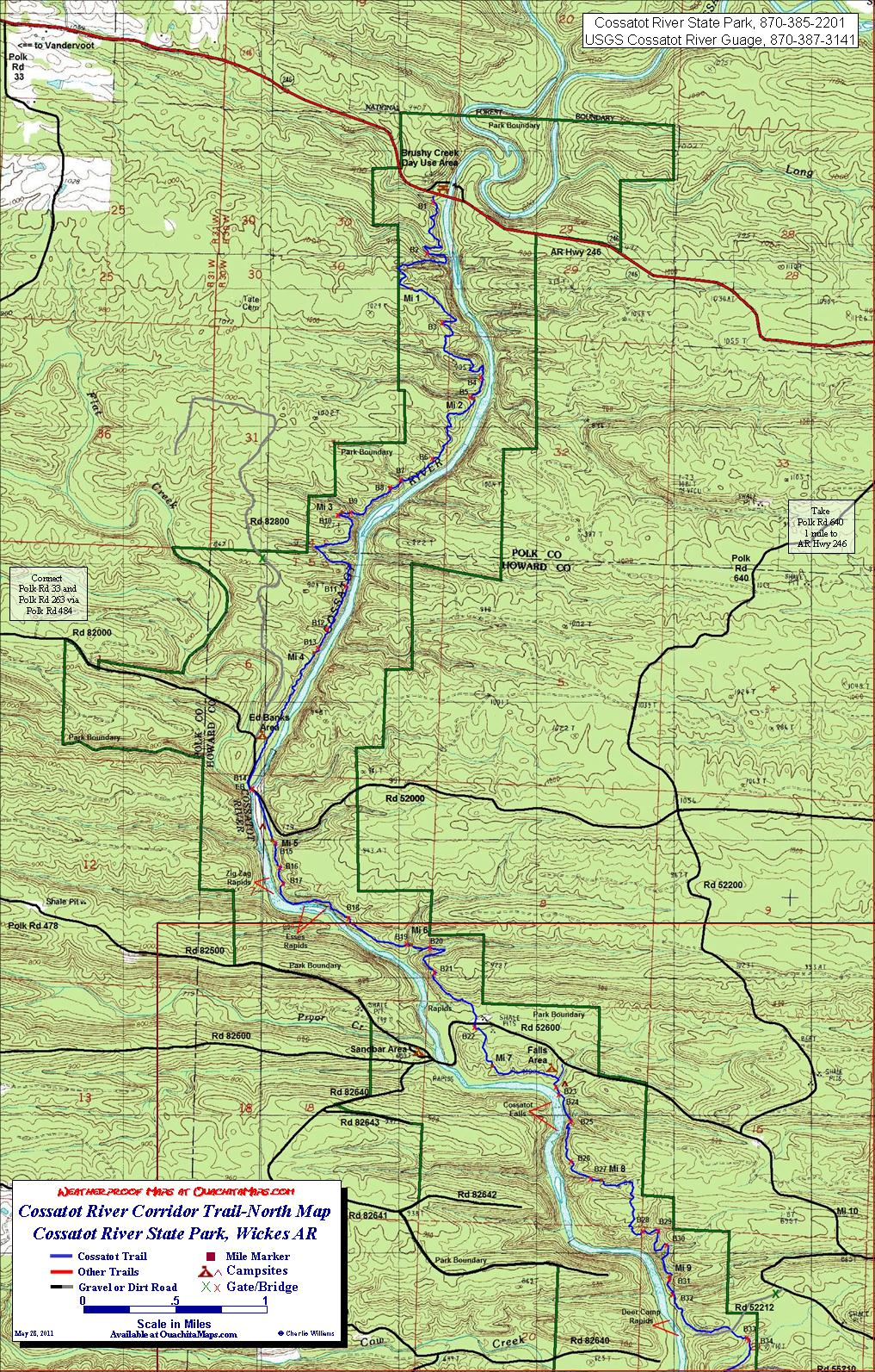 Devils Den Arkansas Map.Cossatot River Corridor Trail Wickes Arkansas Free Detailed Topo Map