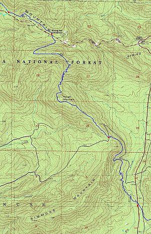 Ouachita Trail Winding Stair To US Ouachita Mts Oklahoma - Map ot the us