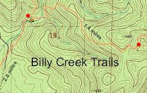 Horse Thief Spring Trail Billy Creek Trail Map Ouachita