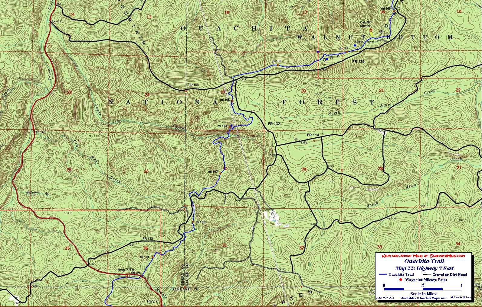 Ouachita trail maps ouachita mountains ok ar free detailed topos sciox Choice Image