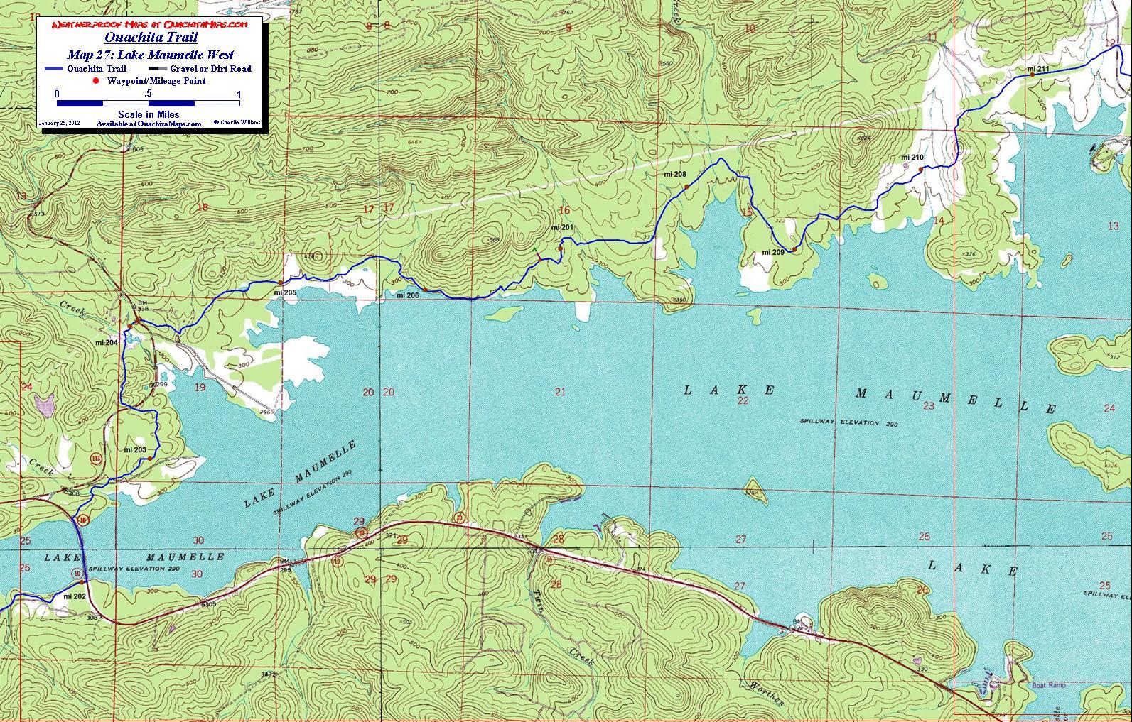 Ouachita Trail Maps, Ouachita Mountains, OK-AR. Free detailed topos.