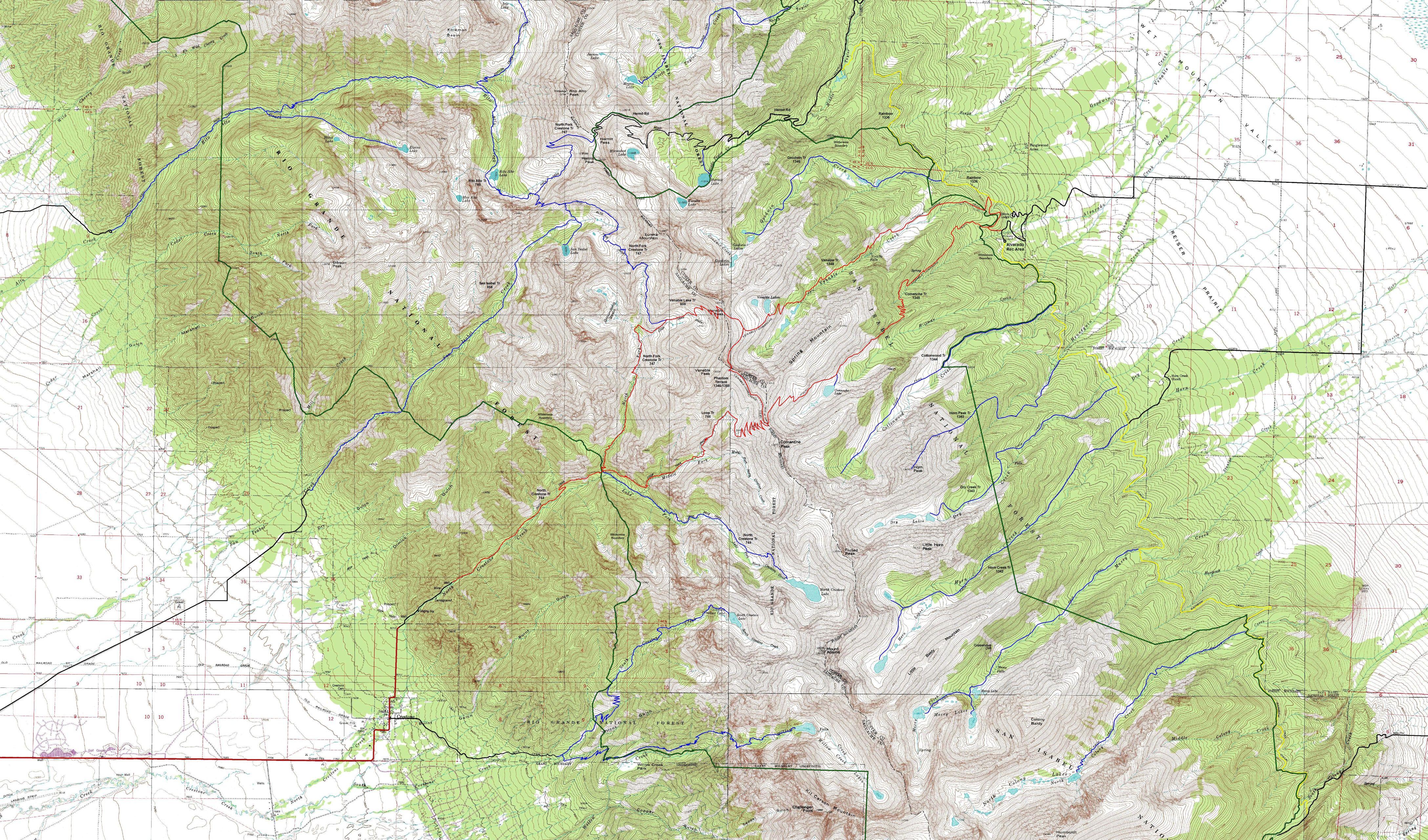 Comanche Venable Loop Crestone Area Sangre De Cristo Wilderness