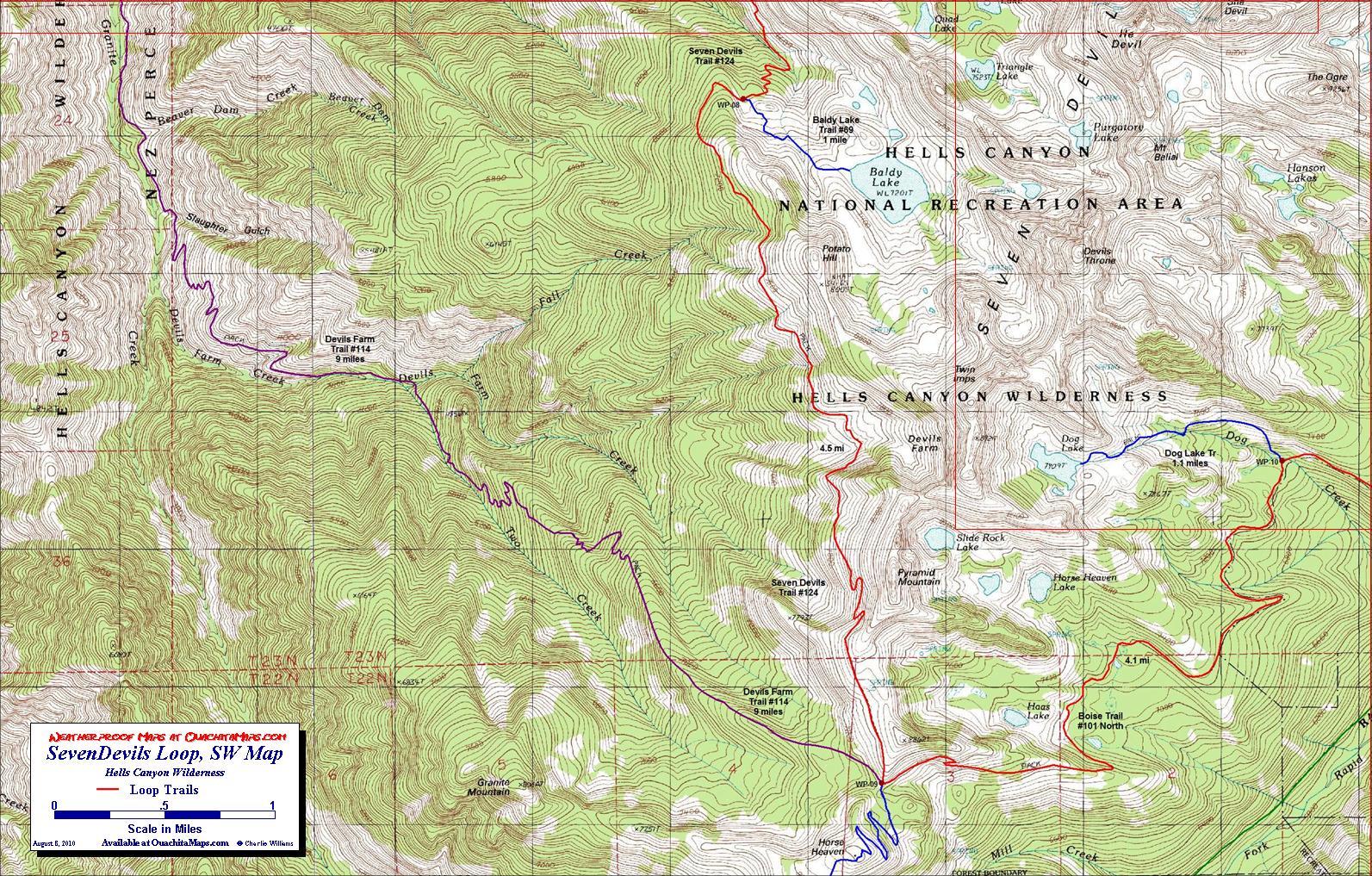 Seven Devils Loop Hells Canyon National Rec Area Idaho Free