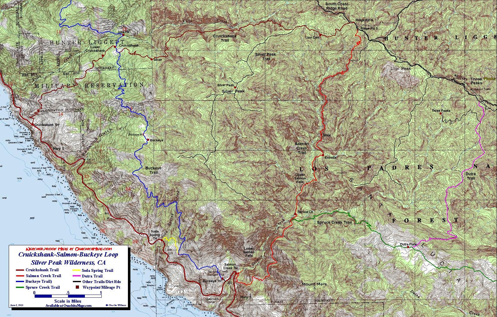cruickshank salmon buckeye loop trail silver peak wilderness