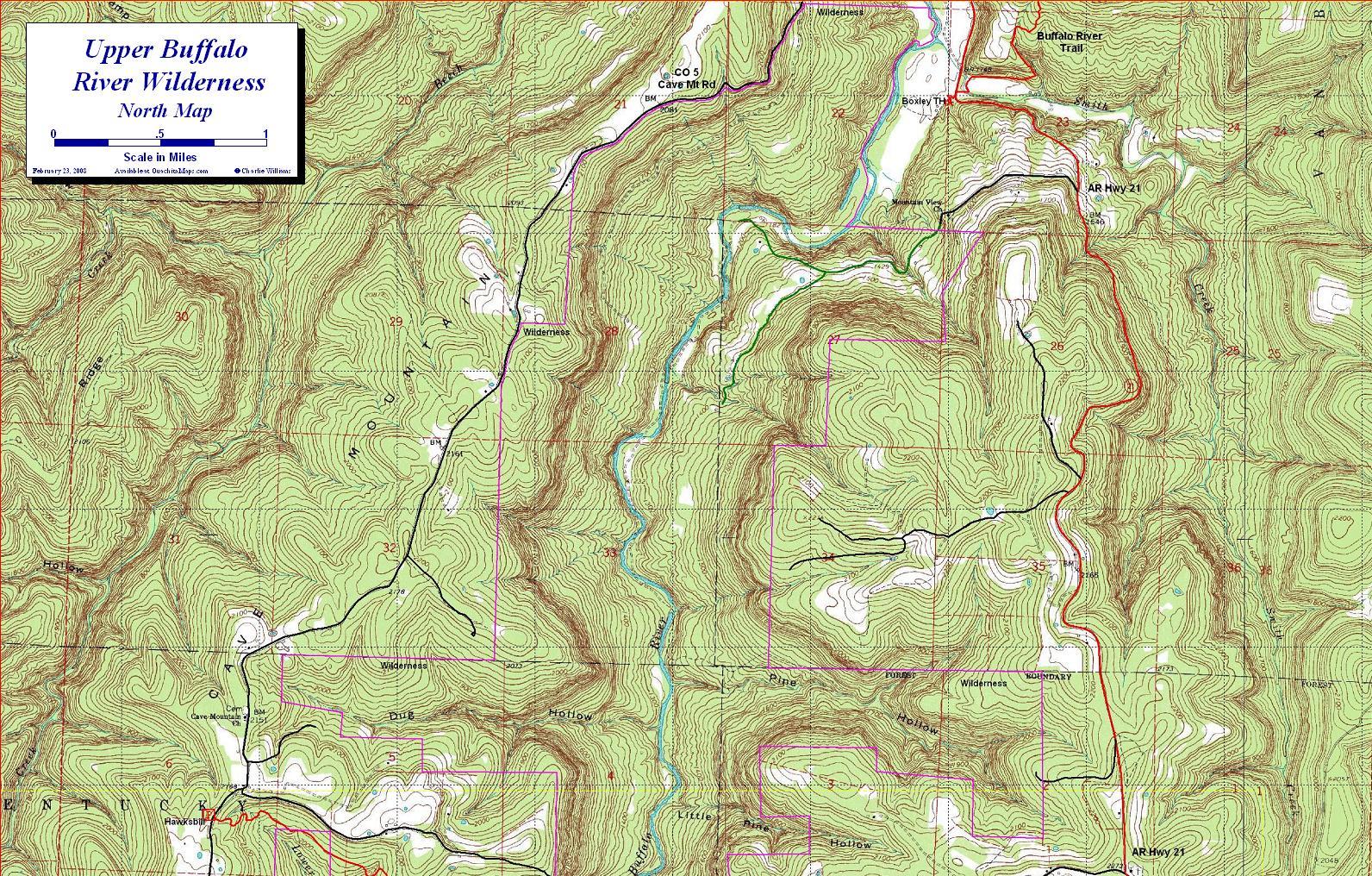Boxley Valley Arkansas Map.Upper Buffalo River Wilderness Ozark Mountains Arkansas