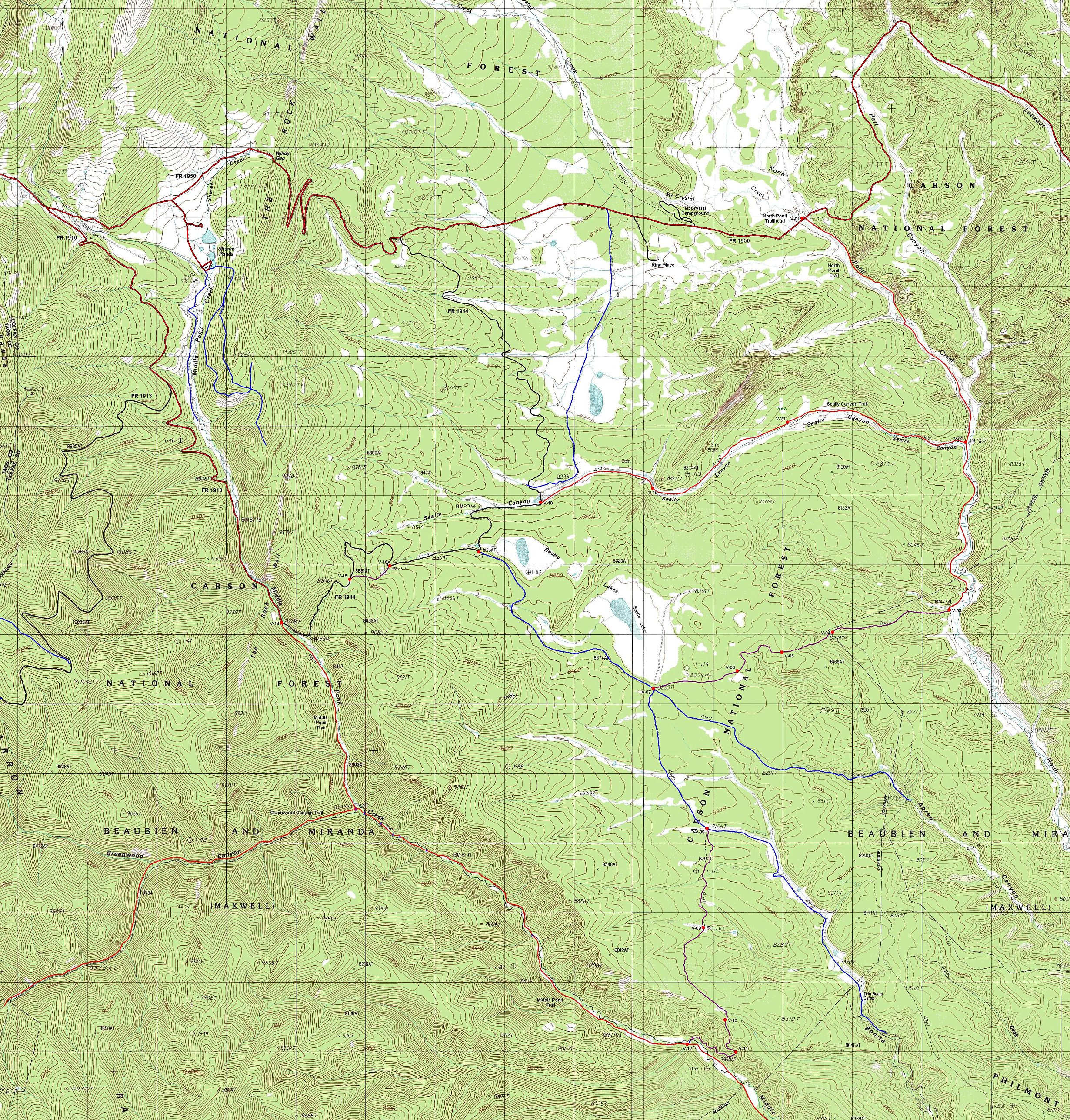 Valle Vidal Carson National Forest New Mexico - New mexico elevation map