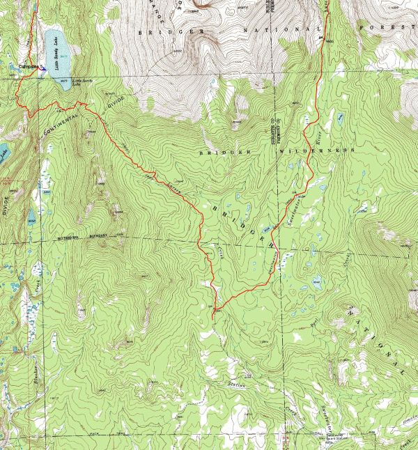 Wind River Range Wyoming Map.Wind River Trail Maps Wyoming